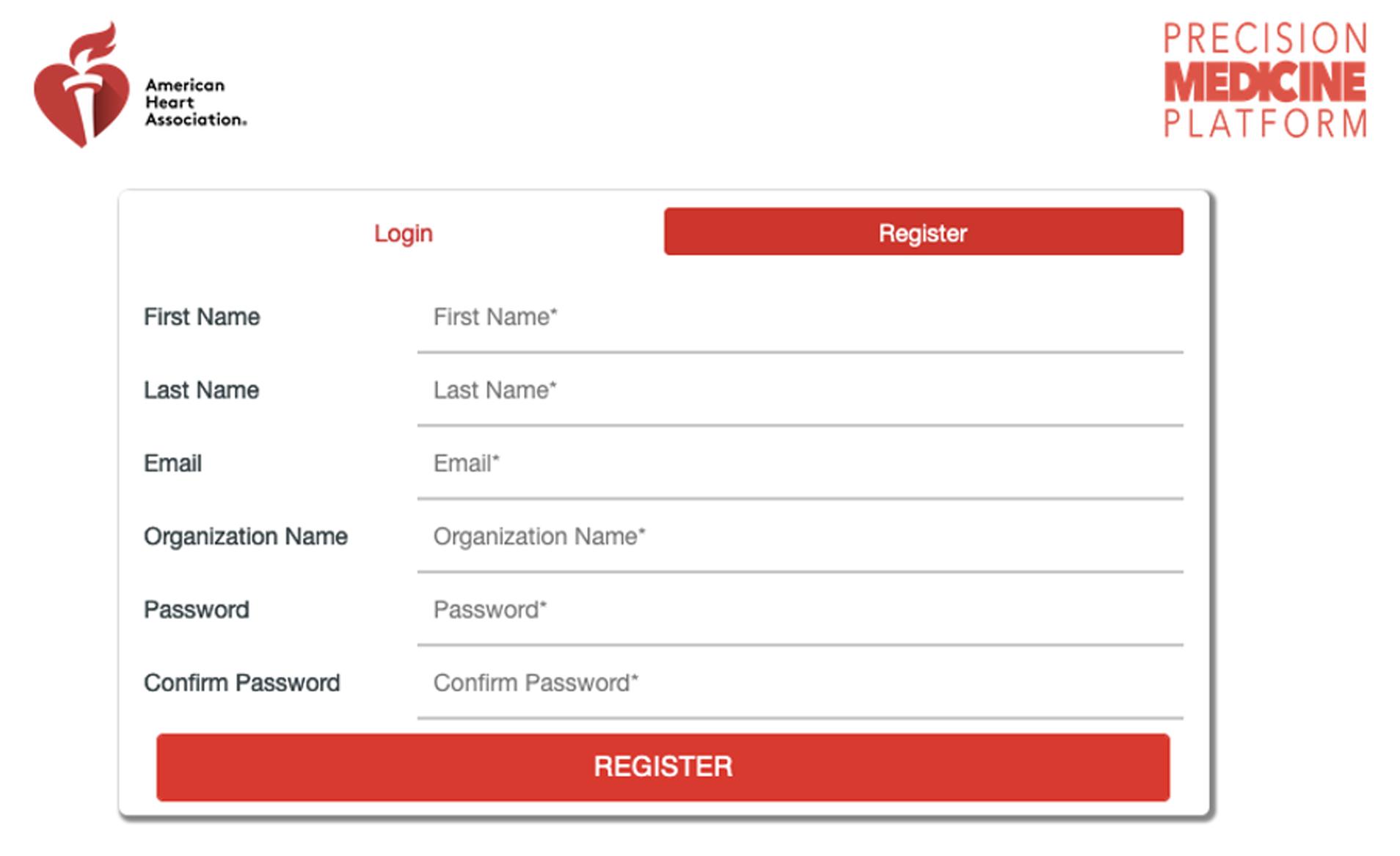 Precision Medicine Platform - Registration