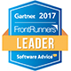 Leader: 2017 FrontRunners Quadrant for BI Software
