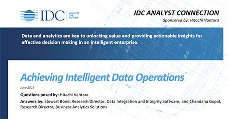 Achieving Intelligent Data Operations - IDC Analyst Connection