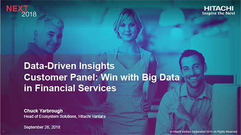 Data-Driven Insights Customer Panel: Win with Big Data in Financial Services