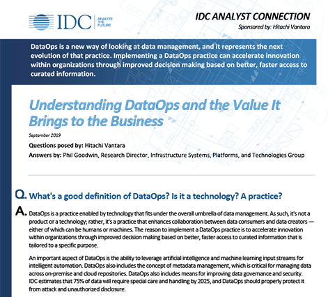 Understanding DataOps and the Value It Brings to the Business - IDC Analyst