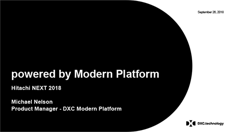 DXC's powered by Modern Platform