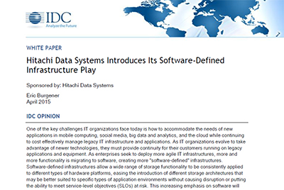 Hitachi Data Systems Software-Defined Infrastructure Play - IDC Whitepaper