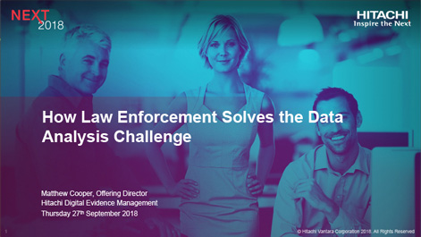 How Law Enforcement Solves Data Analysis Challenge