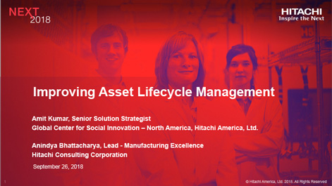 Improving Asset Lifecycle Management