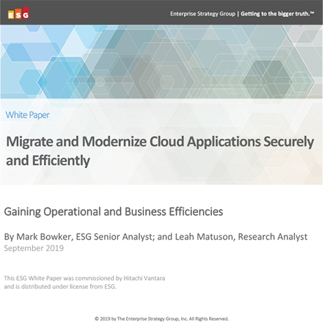 Migrate and Modernize Cloud Applications Securely and Efficiently - ESG Whitepaper
