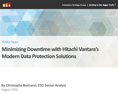 Minimizing Downtime with Modern Data Protection Solutions - ESG Whitepaper