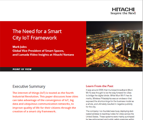 The Need for a Smart City IoT Framework - Point of View