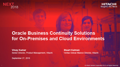 Oracle Business Continuity Solutions for On-Premises and Cloud Environments