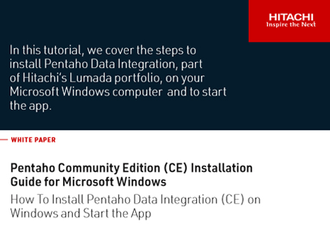 Use This Tutorial To Install Pentaho Community Edition 9.0 for ...