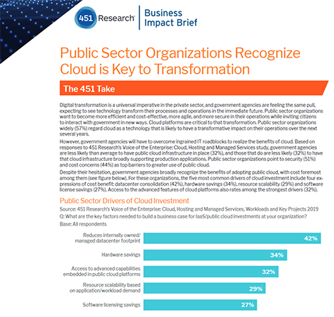 Public Sector Organizations Recognize Cloud Is Key to Transformation
