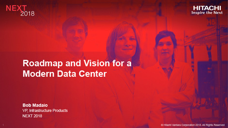 Roadmap and Vision for a Modern Data Center
