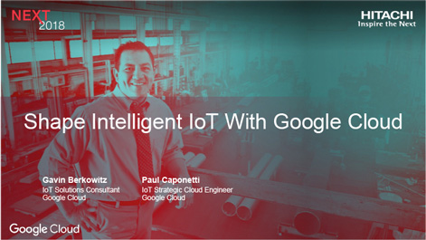 Shape Intelligent IoT with Google Cloud