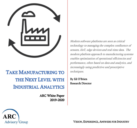 Take Manufacturing to the Next Level with Industrial Analytics - ARC Whitepaper