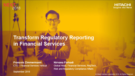 Transform Regulatory Reporting in Financial Services