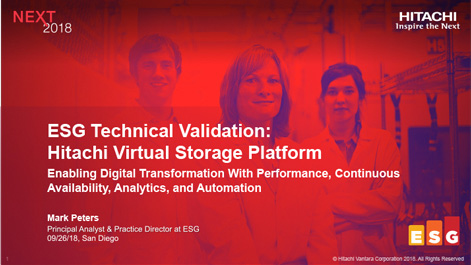 Hitachi Virtual Storage Platform - ESG Technical Validation